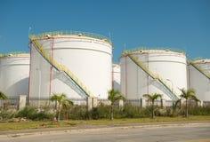 Fabbrica elaborante del gas paesaggio Fotografia Stock