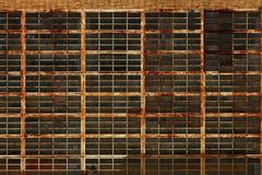 Fabbrica industriale abbandonata Windows arrugginito Fotografie Stock