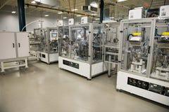 Fabbrica industriale di fabbricazione, macchine di automazione fotografie stock libere da diritti