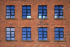 Fabbrica industriale Windows Immagini Stock