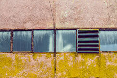 Fabbrica industriale Windows Fotografia Stock Libera da Diritti