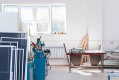 Fabbrica Interrior della finestra del PVC fotografia stock