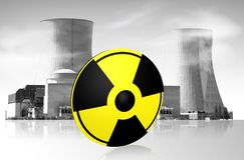 Fabbrica nucleare Fotografia Stock Libera da Diritti