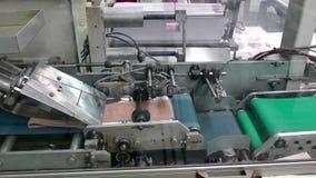 Fabbrica per la produzione dei calzini del ` s delle donne archivi video