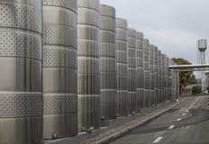 Fabbrica per la produzione delle bevande alcoliche Fotografia Stock