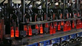 Fabbrica per la produzione delle bottiglie, pianta di vetro archivi video