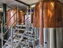 Fabbrica per produzione della birra dei mestieri Fotografia Stock Libera da Diritti