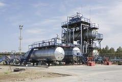 Fabbrica sulla raffinazione del petrolio Immagine Stock