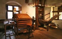 Fabbrica tradizionale di stampa Fotografie Stock