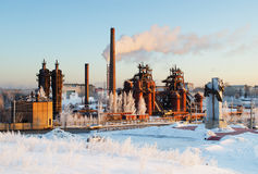 Fabbrica un museo e un monumento agli esperti di metallurgia fotografia stock libera da diritti