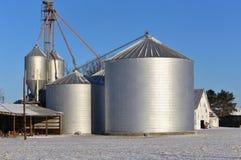 Fabbricati agricoli di agricoltura americana Immagini Stock
