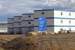 Fabbricati industriali, Alberta, Canada fotografia stock