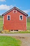 Fabbricato agricolo rosso fotografia stock