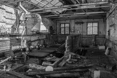 Fabbricato industriale abbandonato Fotografie Stock Libere da Diritti