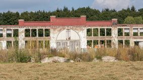 Fabbricato industriale di Abadoned Fotografie Stock