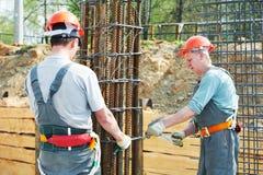 Fabbricazione degli operai di costruzione Immagini Stock Libere da Diritti