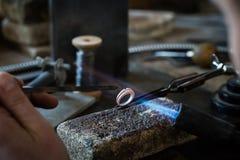 Fabbricazione dei gioielli del mestiere Fotografia Stock