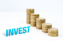 Fabbricazione dei soldi con investire Fotografie Stock
