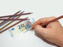 Fabbricazione dei soldi falsi Immagine Stock Libera da Diritti