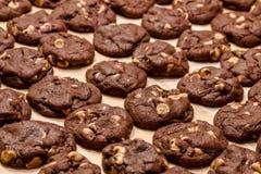 Fabbricazione del burro di arachidi Chip Cookies del cioccolato immagini stock libere da diritti