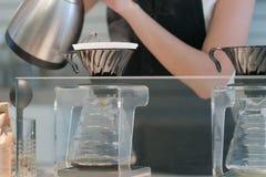 Fabbricazione del caffè americano Immagini Stock Libere da Diritti