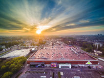 Fabbricazione del centro commerciale Fotografia Stock