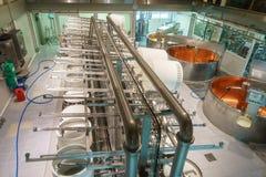 Fabbricazione del formaggio immagine stock