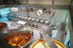 Fabbricazione del formaggio immagini stock libere da diritti