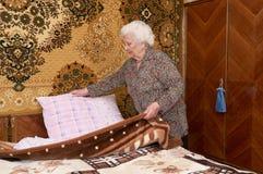 Fabbricazione del letto Immagini Stock