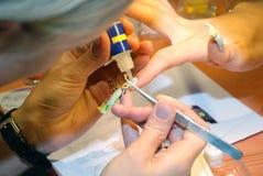 Fabbricazione del manicure di arte Immagini Stock
