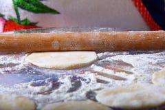 Fabbricazione del manti dei ravioli Fotografia Stock