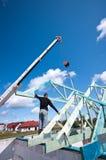 Fabbricazione del tetto Fotografia Stock Libera da Diritti