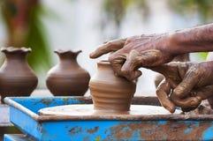 Fabbricazione del vaso Fotografia Stock