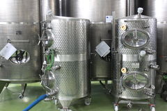 Fabbricazione del vino Fotografie Stock Libere da Diritti