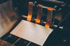 Fabbricazione della fabbrica del biscotto fotografia stock