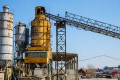 Fabbricazione della fabbrica della pianta del cemento immagini stock