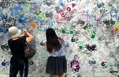 Fabbricazione della galleria del lato est dei graffiti fotografia stock
