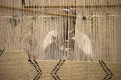 Fabbricazione della mano del tappeto Fotografia Stock Libera da Diritti
