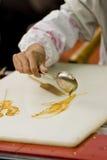 Fabbricazione della maschera con sciroppo Fotografia Stock
