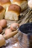 Fabbricazione della serie del pane fotografia stock