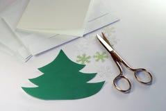 Fabbricazione delle cartoline d'auguri Fotografie Stock