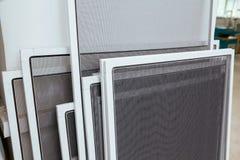 Fabbricazione dello schermo dell'insetto del PVC Fotografia Stock Libera da Diritti