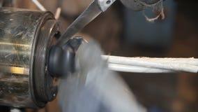 Fabbricazione di cavo elettrico stock footage