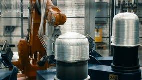 Fabbricazione di fibra del carbonio per l'industria automobilistica stock footage