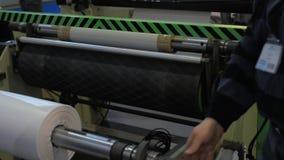 Fabbricazione di sacchetti di plastica stock footage