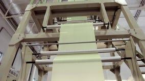 Fabbricazione di sacchetti di plastica video d archivio