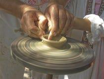 Fabbricazione di un produc dell'argilla Immagine Stock Libera da Diritti