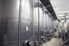 Fabbricazione di vino Fotografie Stock Libere da Diritti