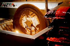 Fabbricazione e produzione di cioccolato immagini stock libere da diritti