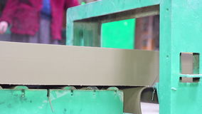 Fabbricazione i mattoni e dei blocchi stock footage